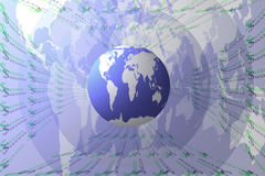 Success abstract background with earth. Royalty Free Stock Photography