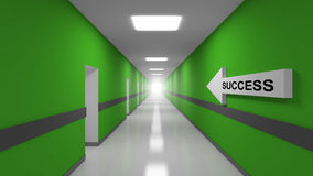 Success abstract 3d metaphor illustration Stock Photo