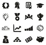 Success & Achievement Icons Freehand Fill. This image is a vector illustration and can be scaled to any size without loss of resolution Royalty Free Stock Image
