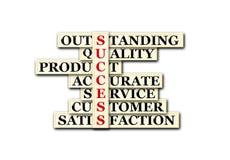 Success. Acronym of success o white background Stock Photo