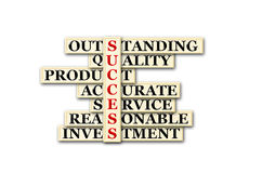 Success. Acronym of success o white background Stock Images