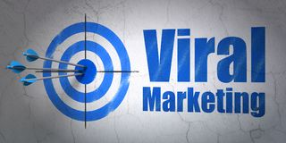 Advertising concept: target and Viral Marketing on wall background Royalty Free Stock Images