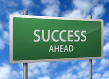 Success ahead sign Stock Photo