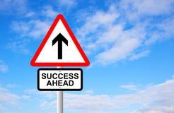 Success Ahead Signpost Stock Photo