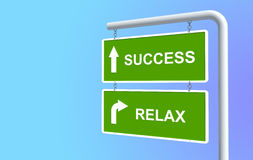 Success And Relax Royalty Free Stock Photo