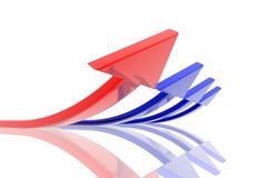 Success arrow Stock Images