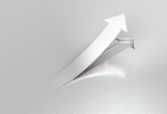 Success arrow glossy Stock Photography