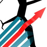 Success arrow over the cliff. Image with hi-res rendered artwork that could be used for any graphic design Stock Images