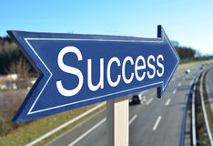 Success arrow. Pointing to highway Royalty Free Stock Photography