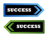 Success arrow signs Royalty Free Stock Photography