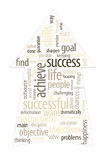 Success Concept Cloud. Imagine yourself being successful and find the purpose or goal of your business/life Royalty Free Stock Images