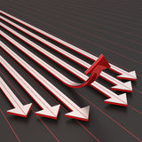 Success arrow upward. 3d render Royalty Free Stock Photos