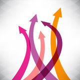 Success arrows creative background Royalty Free Stock Photo