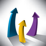 Success arrows creative background Stock Photos