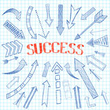 Success arrows icon sketch Royalty Free Stock Photography