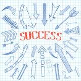 Success arrows icon sketch vector illustration