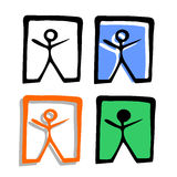 Success art icon. Creative design of four success art icons Stock Images