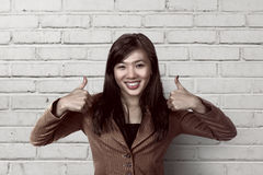 Success asian business woman smiling Royalty Free Stock Image