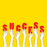 Success banner design concept Stock Photos