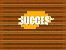 Success behind the wall Stock Images