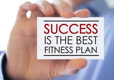 Success is the best fitness plan stock images