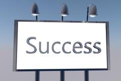 Success on billboard Royalty Free Stock Photos