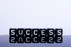Success black on  white Royalty Free Stock Photography