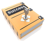Success book with lock key Royalty Free Stock Photo