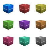 Success Boxes in 3d Cube Format. Isolated on White Royalty Free Stock Photos