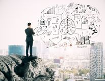Success and brainstorm concept royalty free stock image