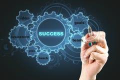 Success and brainstorm concept vector illustration