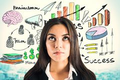 Success and brainstorm concept royalty free stock photo