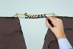 Success on bridge Royalty Free Stock Image