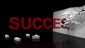 Success Broken Wall Stock Image