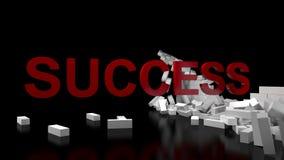 Success Broken Wall stock illustration