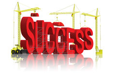 Building success. Success building successful creation create your own fortune be a winner reach your achievement and succeed in business and in life become the royalty free illustration