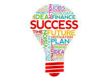 SUCCESS bulb Royalty Free Stock Images