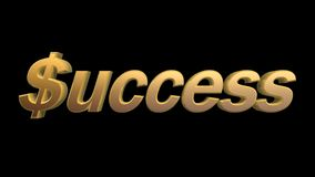 Success in business. Isolated on black background Royalty Free Stock Photo