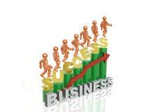 Success. In business - abstract business background Stock Image