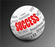 Success business abstract motivation ball sphere  Stock Image