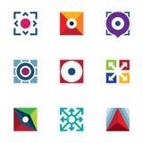 Success business arrow extension creative logo startup idea icons set Stock Photos