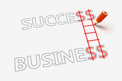 Success in business and career ladder Royalty Free Stock Photography