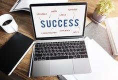 Success Business Company战略营销概念 免版税库存照片