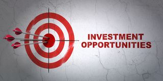 Business concept: target and Investment Opportunities on wall background Royalty Free Stock Photography