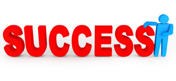 Success in business concept Stock Image
