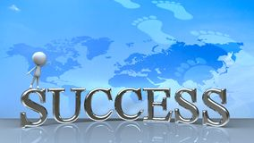 Success in business concept happy Stock Photos