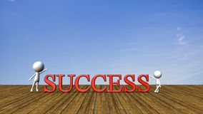 Success in business concept happy Royalty Free Stock Images