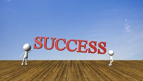 Success in business concept happy Royalty Free Stock Photos