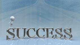 Success in business concept happy. For adv or others purpose use Royalty Free Stock Images