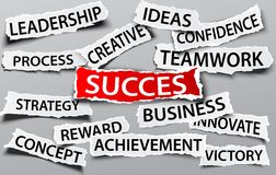 Success on business concept Stock Photos